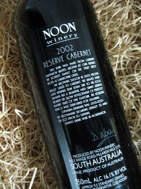 Noon Winery Reserve Cabernet Sauvignon 2002***