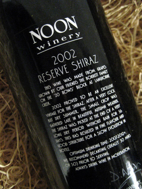 [SOLD-OUT] Noon Winery Reserve Shiraz 2002
