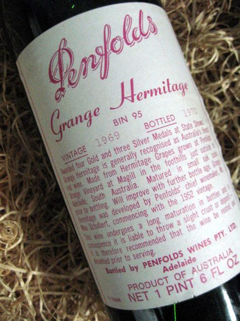 Penfolds Grange 1969  (Minor Damaged Label)