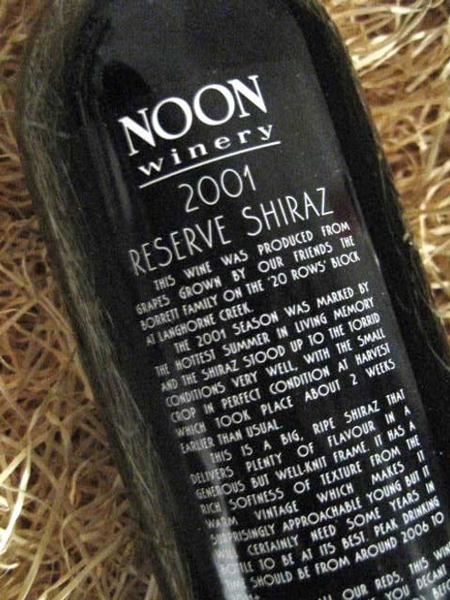 [SOLD-OUT] Noon Winery Reserve Shiraz 2001