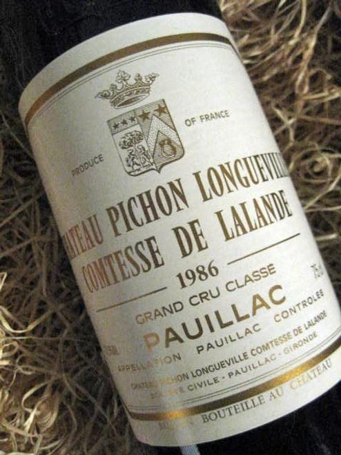 Chateau Pichon Longueville Comtesse De Lalande  1986