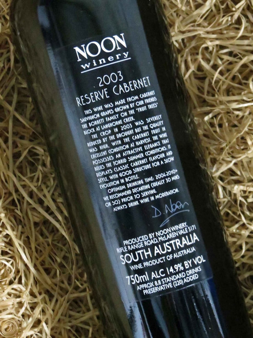 [SOLD-OUT] Noon Winery Reserve Cabernet Sauvignon 2003