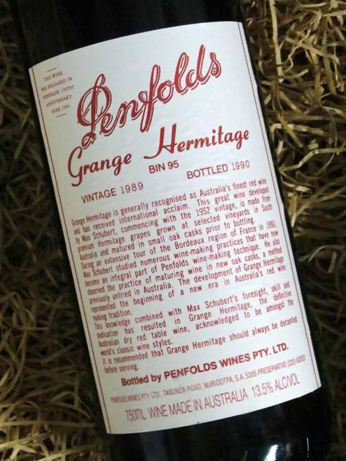 Penfolds Grange 1989 (Minor Damaged Label)