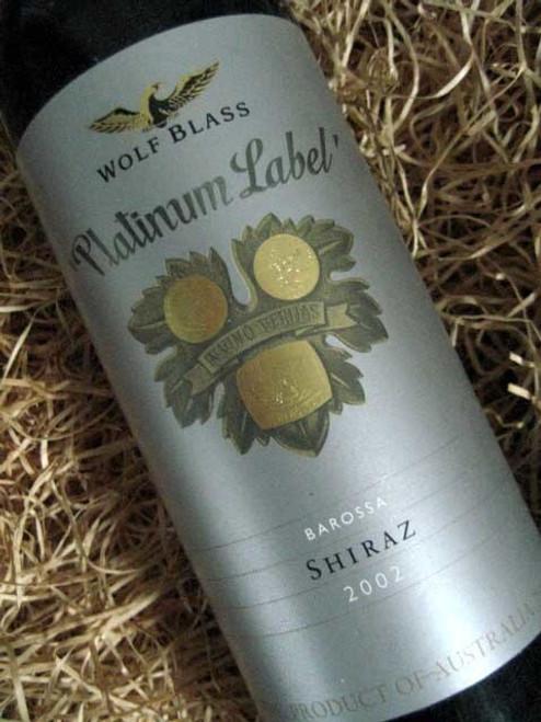 Wolf Blass Platinum Label Shiraz 2002