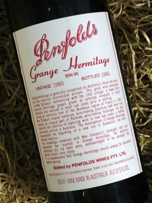 [SOLD-OUT] Penfolds Grange 1980 (Base of Neck Level) (Minor Damaged Label)