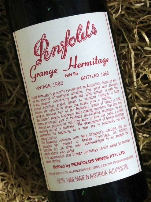 [SOLD-OUT] Penfolds Grange 1980 (Base of Neck Level) (Minor Damaged Label)
