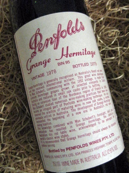 Penfolds Grange 1978 Cliniced