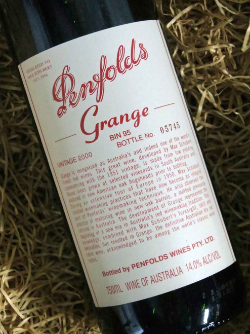 [SOLD-OUT] Penfolds Grange 2000 (Minor Damaged Label)