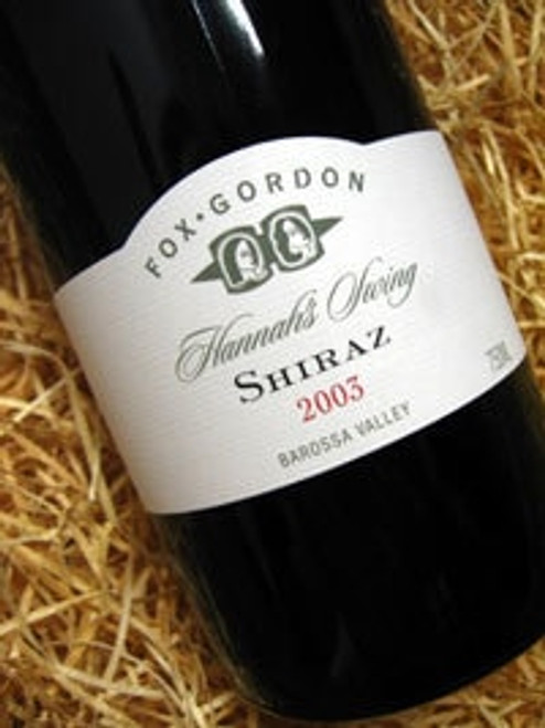 Fox Gordon Hannah's Swing Shiraz 2003