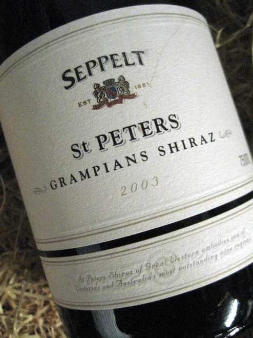 [SOLD-OUT] Seppelt St Peters Shiraz 2003