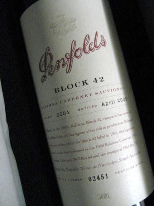 Penfolds Block 42 Kalimna Cabernet Sauvignon 2004