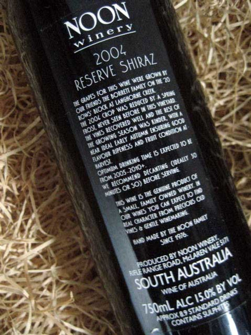 [SOLD-OUT] Noon Winery Reserve Shiraz 2004