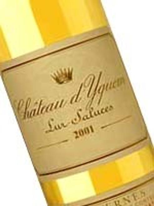 Chateau d`Yquem Sauternes 2001 375mL