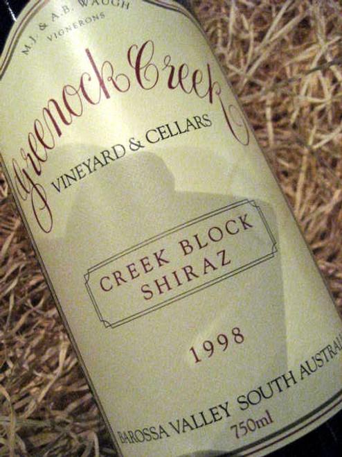 Greenock Creek Creek Block Shiraz 1998