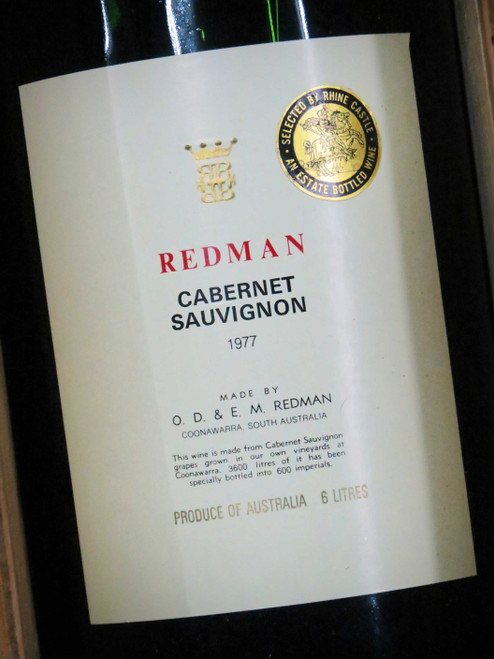 [SOLD-OUT] Redman Cabernet Sauvignon 1977 Imperial