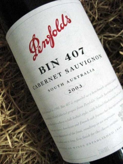 Penfolds Bin 407 2003