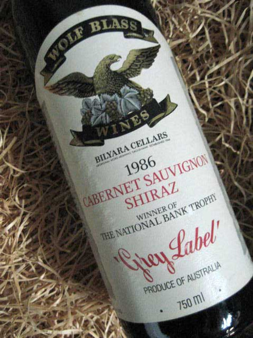 Wolf Blass Grey Label Cabernet Shiraz 1986