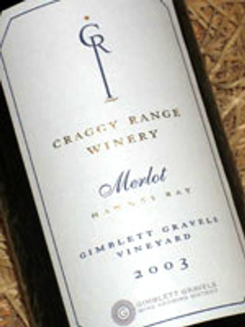 Craggy Range Gimblett Gravels Merlot 2003