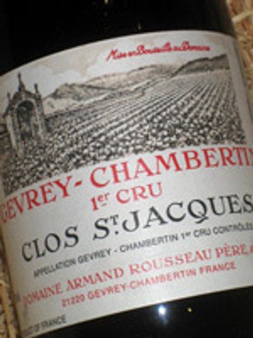 Rousseau Gevrey Chambertin Clos St Jacques 1999 (Damaged Label)