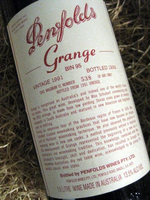 Penfolds Grange 1991 1500mL