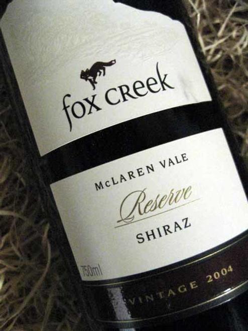 Fox Creek Reserve Shiraz 2004