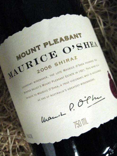 Mount Pleasant Maurice O'Shea Shiraz 2006