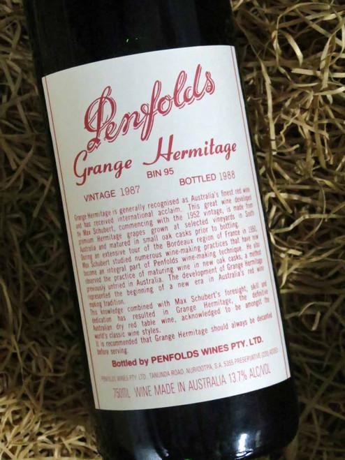 [SOLD-OUT] Penfolds Grange 1987 (Minor Damaged Label)