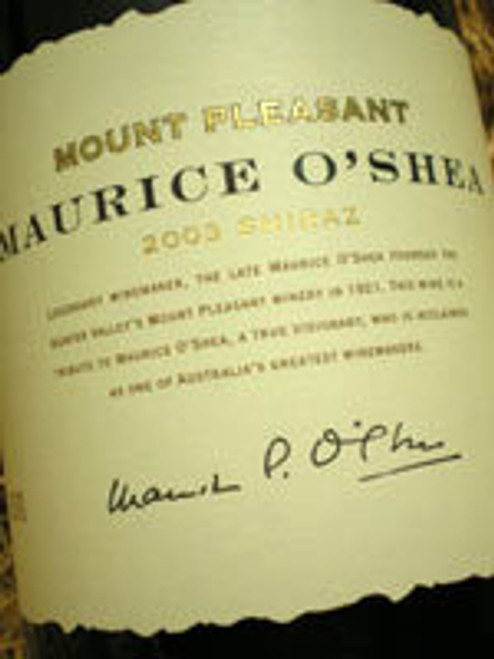 Mount Pleasant Maurice O'Shea Shiraz 2003