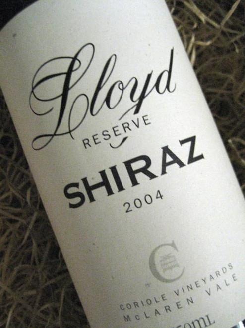 Coriole Lloyd Reserve Shiraz 2004