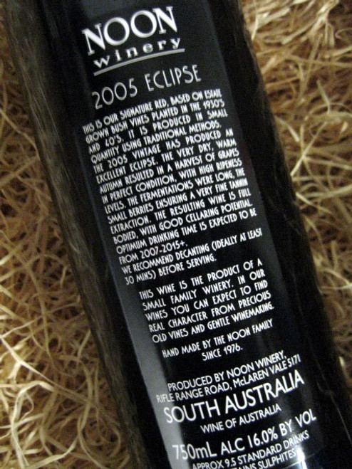 Noon Winery Eclipse Grenache Shiraz 2005***