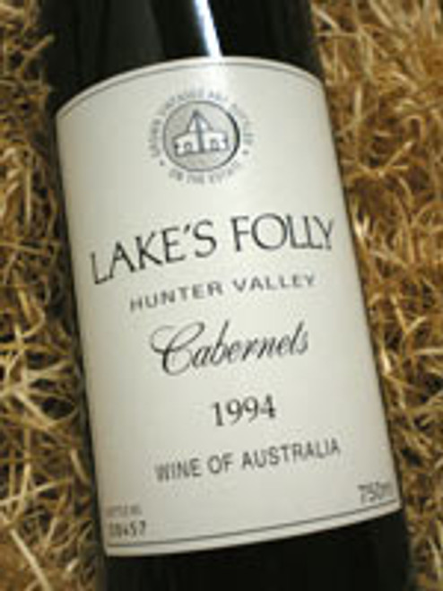 Lake's Folly White Label Cabernets 1994