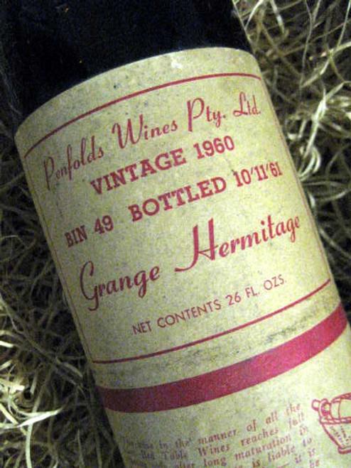 Penfolds Grange 1960 (Minor Damaged Label)