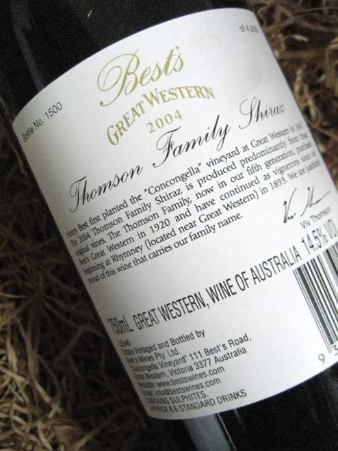 [SOLD-OUT] Best's Thomson Family Shiraz 2004