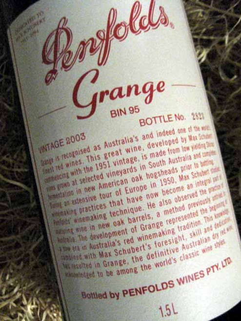 Penfolds Grange 2003 1500mL