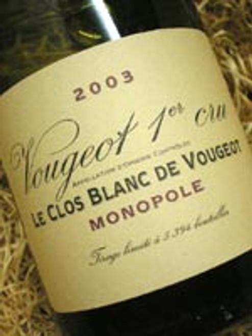 Domaine de la Vougeraie Blanc Vougeout 2003