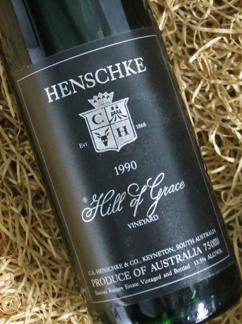 Henschke Hill of Grace 1990 (Very High Shoulder Level) (Minor Damaged Label)