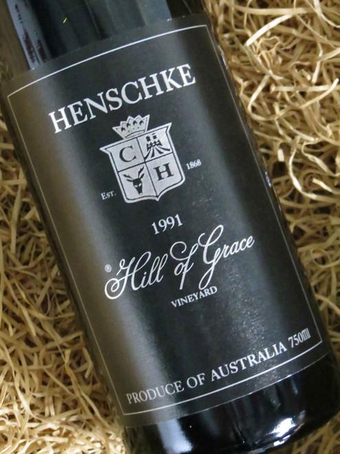 Henschke Hill of Grace 1991 (Very High Shoulder Level) (Minor Damaged Label)