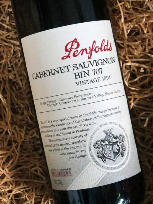 Penfolds Bin 707 1994 (Minor Damaged Label)