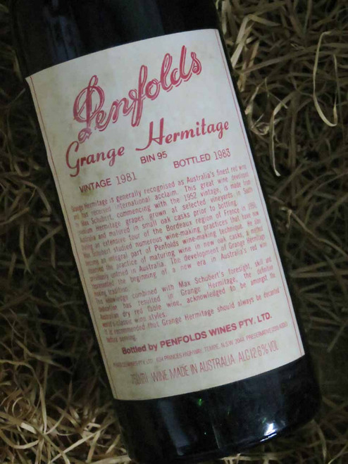 Penfolds Grange 1981 (Base of Neck Level) (Minor Damaged Label)