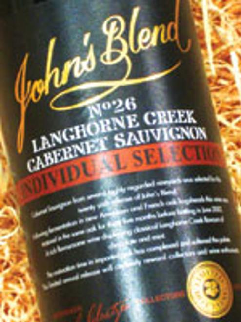 John's Blend No. 26 Cabernet Sauvignon 1999