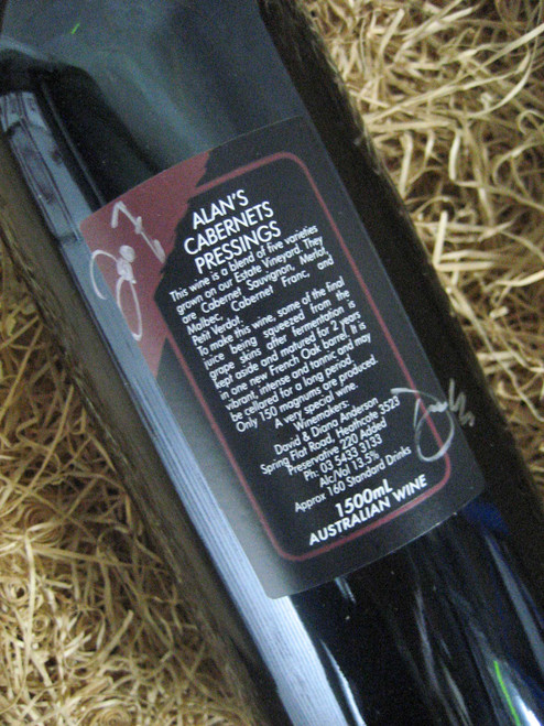 [SOLD-OUT] Wild Duck Creek Alan's Cabernet Sauvignon 2007 Press 1500mL-Magnum