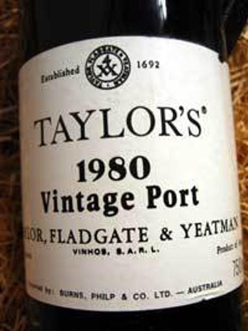 Taylors Vintage Port 1980 Oporto