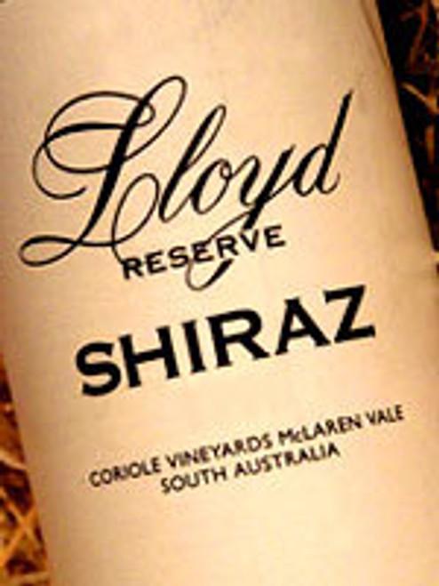 Coriole Lloyd Reserve Shiraz 2001 1500mL
