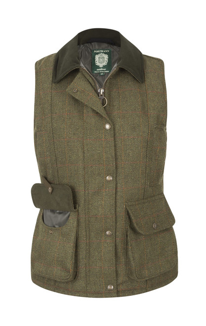Portmann Ladies Malvern Tweed Gilet