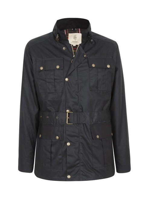 Mens Silverstone Premium Quality Belted Wax Jacket