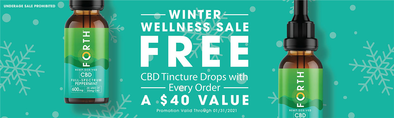 Winter Wellness Sale Free CBD Tincture Drops Promotion