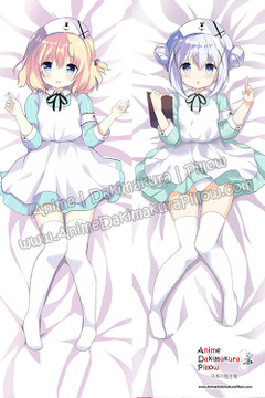 New Cocoa Hoto and Chino Kafu – Is the Order a Rabbit Anime Dakimakura Japanese Hugging Body Pillow Cover H3909