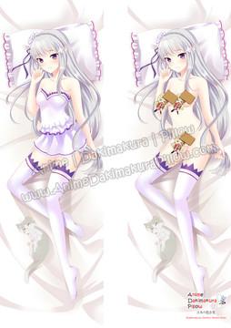 ADP Emilia - Re Zero  Anime Dakimakura Japanese Pillow Cover ZMZ-00069