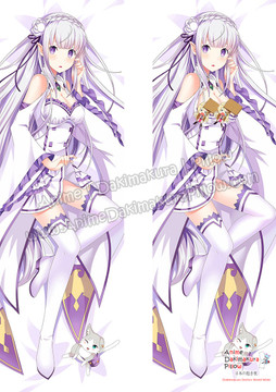 ADP Emilia - Re Zero Anime Dakimakura Japanese Pillow Cover ZMZ-00073