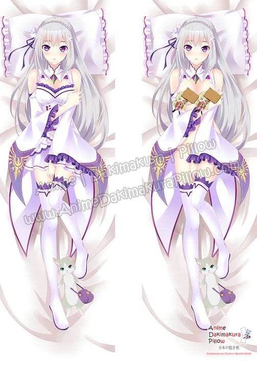 ADP Emilia - Re Zero Anime Dakimakura Japanese Pillow Cover ZMZ-00068